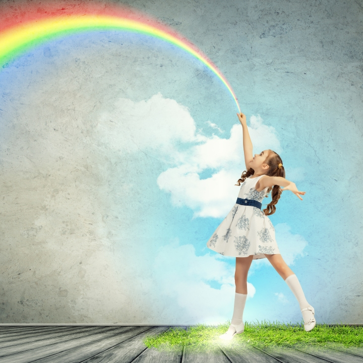 Rainbow kid shutterstock_140990146